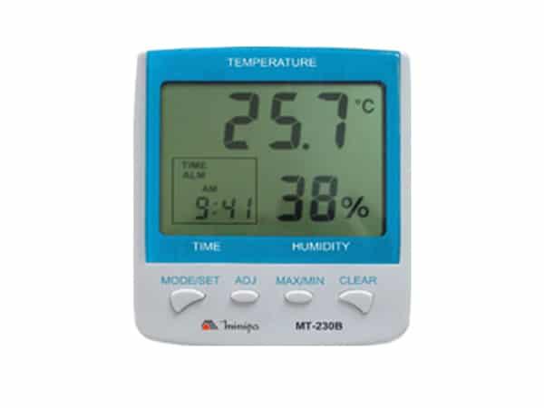 Termo-Higrômetro com Relógio