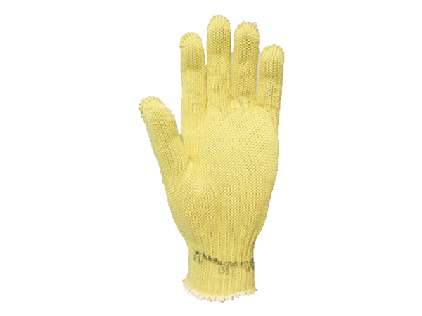 Luva de segurança tricotada em tecido aramida com ou sem forro de algodão