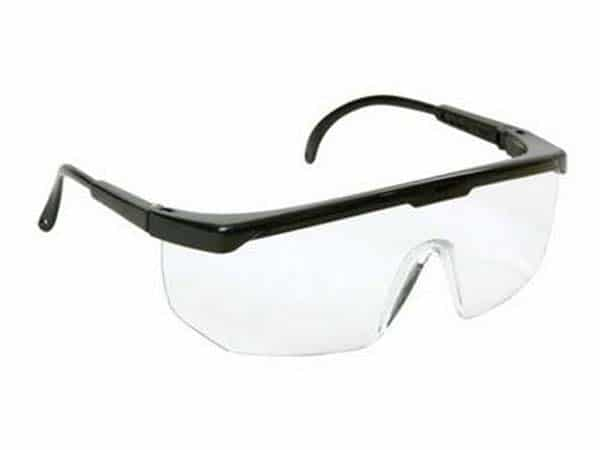 Óculos de segurança com lente em policarbonato incolor com tratamento antirrisco